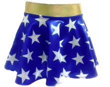 Closeout: WONDER GIRL POWER SKIRT! Ships Next Business Day! Blue with White Stars- FREE SHIPPING!