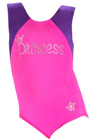 SUMMER PRINCESS!  Limited Edition. In Stock.  Berry and Grape Girls Gymnastics Leotard. FREE SHIPPING!
