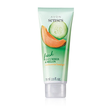 Avon Senses Fresh Cucumber & Melon Antibacterial Hand Gel.