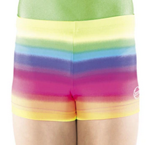 New! RAINBOW SHORTS! Girls Gymnastics Shorts. Ships Next Business Day! - FREE Shipping!
