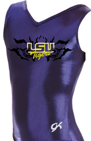 New!! LSU TIGERS!  Girls' Gymnastics Leotard: GK  Purple Mystique.  FREE SHIPPING!