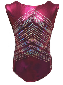 New!! SHOWTIME! Girls' Gymnastics/Dance Leotard: Purple  Mystique with Sparkle Accents - FREE SHIPPING!