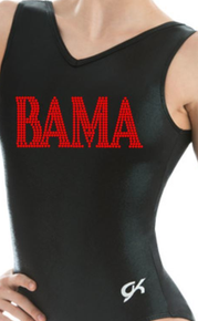 BAMA Alabama Collegiate Girls Gymnastics Leotard: GK  Black and Red  Mystique.  FREE Shipping!