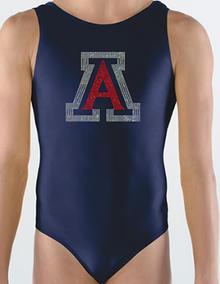 ARIZONA  Dazzling Girls Gymnastics Leotard: GK  Dark Blue Nylon. FREE Shipping