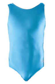 BABY BLUE SKY Girls' Gymnastics Leotard: Blue Nylon Lycra. FREE SHIPPING!