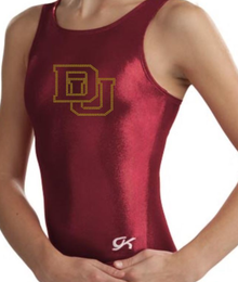 Price Drop! DENVER U Collegiate Girls' Gymnastics Leotard: Burgundy Mystique.  FREE Shipping!