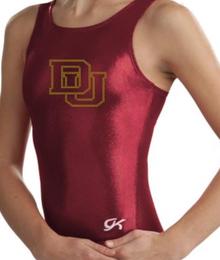 New!  DENVER U Collegiate Girls' Gymnastics Leotard: Burgundy Mystique.  FREE Shipping!