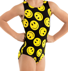 New! SMILEY FACE Girls' Gymnastics/Dance Leotard.  FREE Shipping and Free Scrunchie!