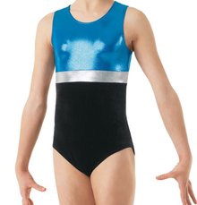 New! BLUE GALAXY Girls' Dance  Leotard.  FREE Shipping and Free Scrunchie!