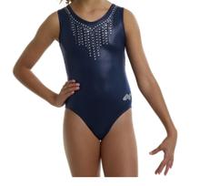Price Drop! BLUE GLAMOUR Sparkling Girls' Gymnastics Leotard.  Free Scrunchie!