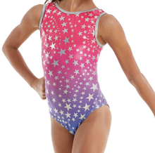New! SHINING STAR Girls' Dance/Gymnastics  Leotard.  Red, White and Blue Patriotic. FREE Shipping and Free Scrunchie!