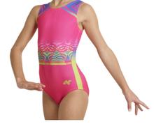 Price Drop! VIVID Dynamic Girls' Gymnastics Leotard.  Pink Poly/Spandex  Racerback Tank. FREE Shipping.