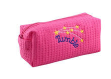 New! PINK WAFFLE WEAVE Cosmetic Bag.