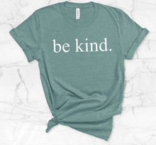 New! BE KIND Mint/Peach Classic Ring Spun Cotton T-Shirt. FREE Shipping!