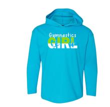 New! GYMNASTICS GIRL Stylish Long Sleeve Hooded T-shirt. FREE Shipping!