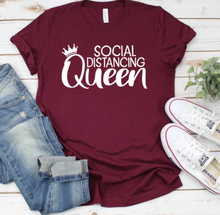New! SOCIAL DISTANCING QUEEN Comfy Cotton T-Shirt. FREE Shipping!
