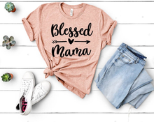 New! BLESSED MAMA Inspirational Cotton T-Shirt. FREE Shipping!
