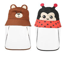New! CUTE KIDS PROTECTIVE FACE SHIELD HAT.