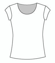 Cap Sleeve Jewel Neck (100C)