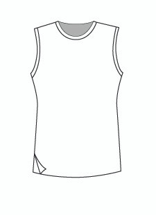 Easy Fit Sleeveless Crew Neck (1401T)
