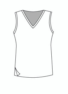 Easy Fit Sleeveless Vee Neck (1402T)