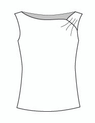 Sleeveless Shirred Boat (204T)