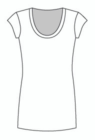 Cap Sleeve Tunic U Neck (916C)