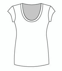 Cap Sleeve Tunic U Neck (006C)