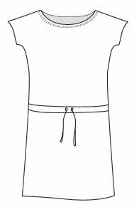 Cap Sleeve Drawstring Dress (DR981C)