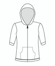 Half Sleeve Zip Hoody (610H)