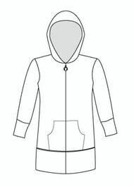 3/4 Sleeve Tunic Zip Hoody (910Q)