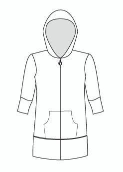 Half Sleeve Tunic Zip Hoody (910H)