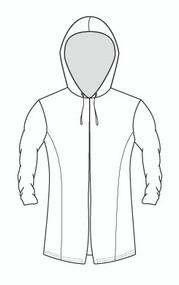 Tunic Hooded Shirred Sleeve Jacket (633)