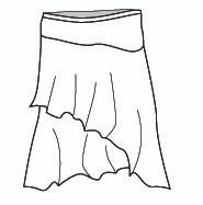 Layered Short Skirt (J777)