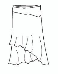 Layered Long Skirt (J778)