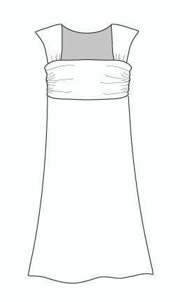 Wide Strap Empire Dress (DR991)