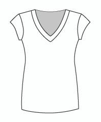 Cap Sleeve Tunic Vee (0044C)