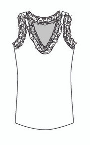 Lace Vee Neck Tank (702)