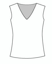 Plus Size Sleeveless Vee Neck (PP102T)