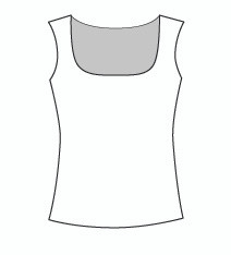 Plus Size Sleeveless Square Neck (PP109T)
