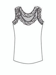 Plus Size Lace Tank (PP0017)