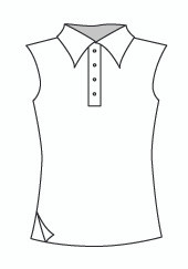 Sleeveless Polo w/ Side Slit (333T)