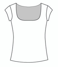 Cap Sleeve Square Neck (109C)