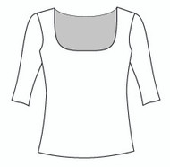 Half Sleeve Square Neck (109H)