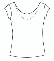 Cap Sleeve Reversible Scoop (1061C)
