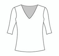 Half Sleeve Vee Neck (102H)