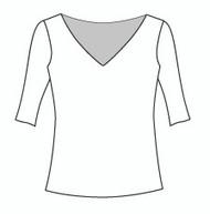 Half Sleeve Wide Vee Neck (114H)