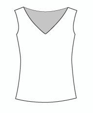 Sleeveless Wide Vee Neck (114T)
