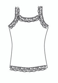 Plus Size Lace Cami (PP724T)