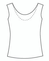 Sleeveless Reversible Scoop (1061T)
